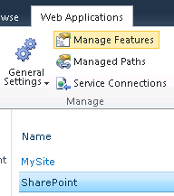 manage web application features