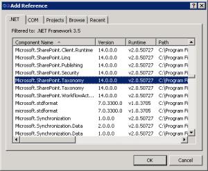add reference dot net tab