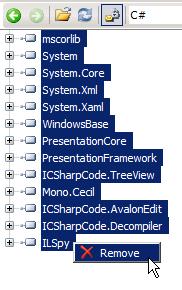 ilspy remove standard libs